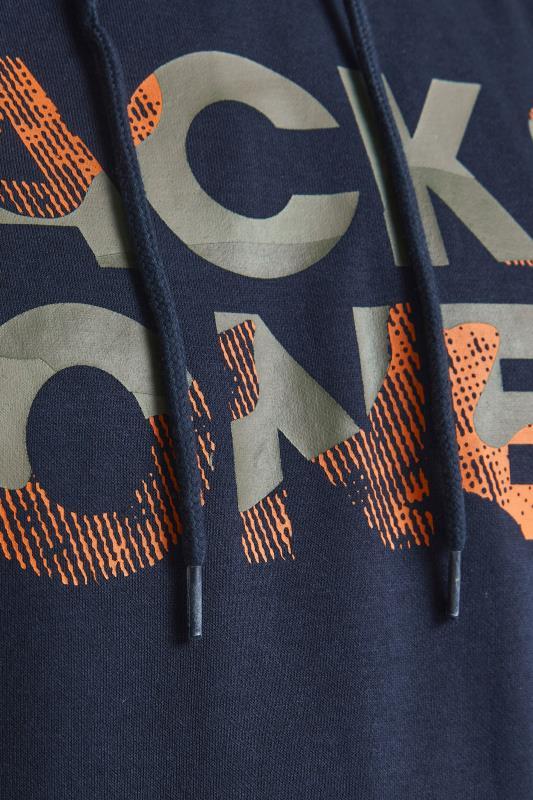 JACK & JONES Navy Logo Hoodie_S.jpg
