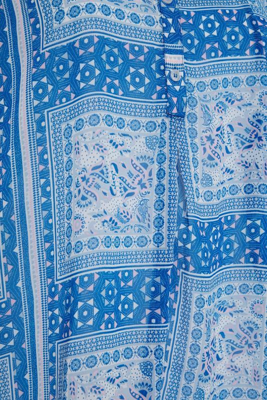 Blue Patchwork Batwing Shirt_S.jpg