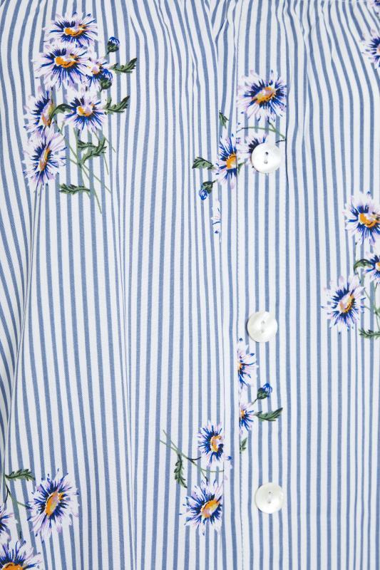 Blue Stripe Floral Button Bardot Top_s.jpg