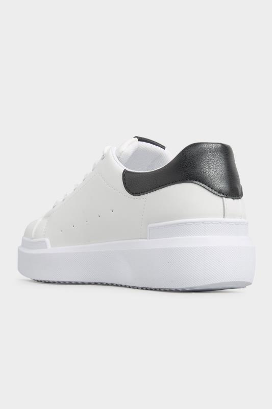 LIMITED COLLECTION White and Black Flatform Trainer In Wide Fit_E.jpg