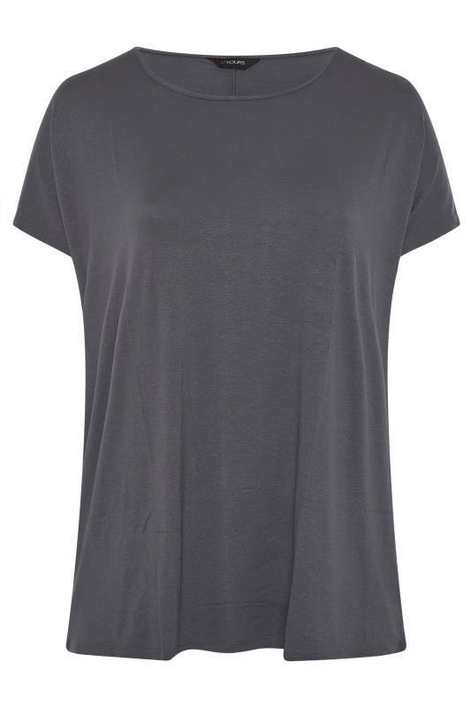 Grey Dipped Hem Short Sleeved T-Shirt_F.jpg