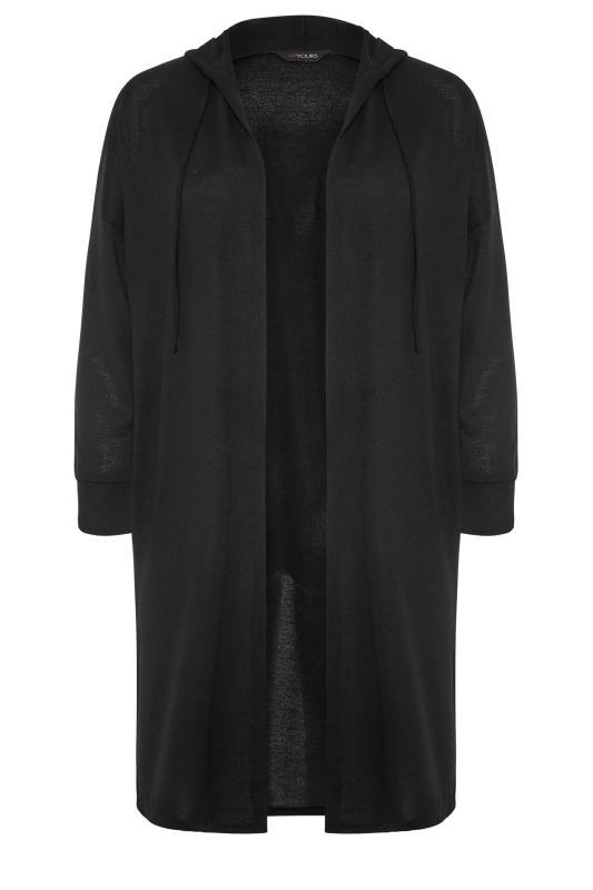 Black Hooded Knitted Cardigan_F.jpg