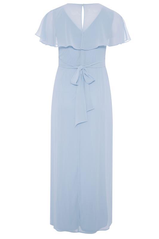 Light Blue Angel Sleeve Maxi Dress_BK.jpg