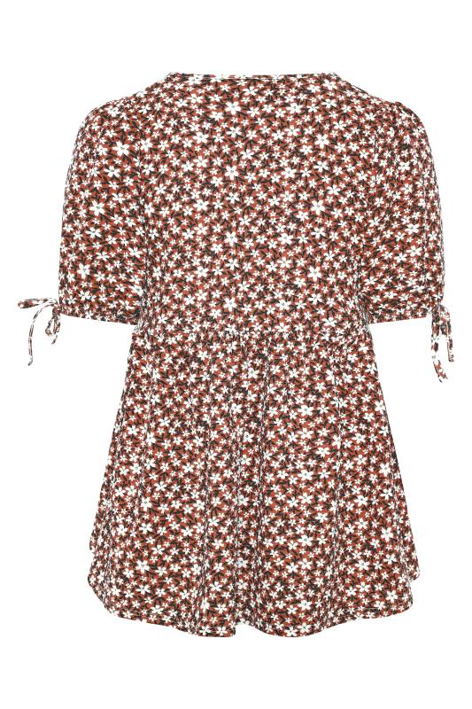 LIMITED COLLECTION Rust Floral Wrap Front Top_BK.jpg