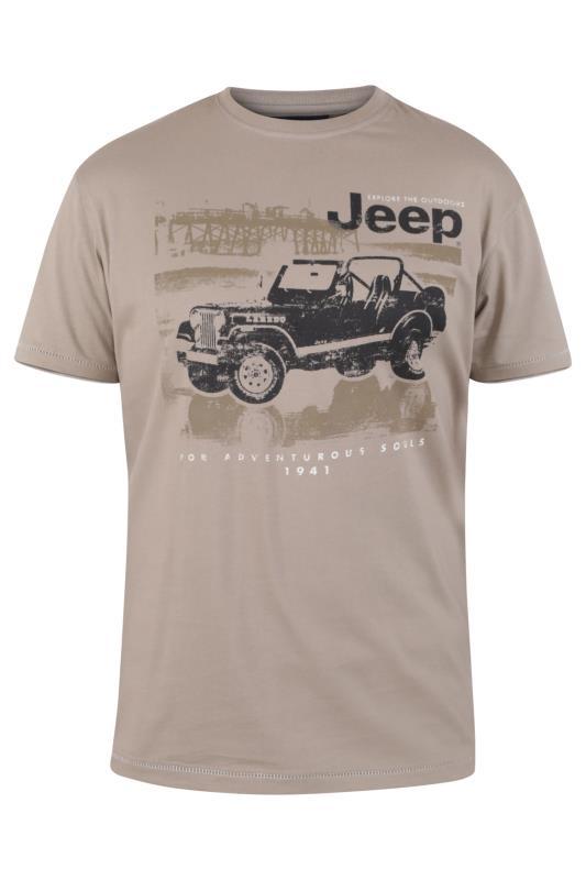 Men's  D555 Taupe Official Jeep Print T-Shirt