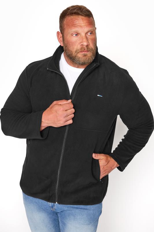 Men's  BadRhino Black Essential Zip Through Fleece