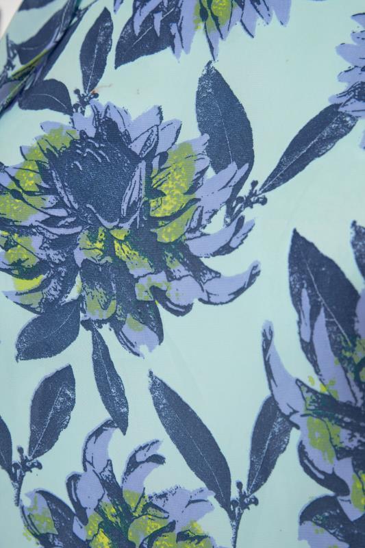 Blue Floral Frill Sleeve Top_S.jpg
