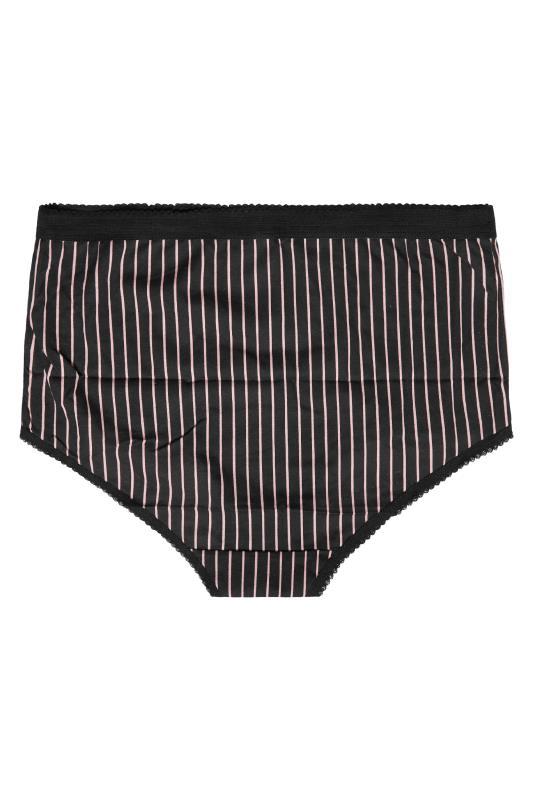 5 PACK Black & Pink Stripe Lace Full Briefs_D.jpg