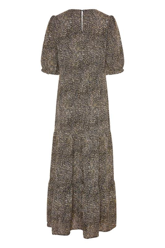 LTS Black Speckled Tiered Midaxi Dress_BK.jpg