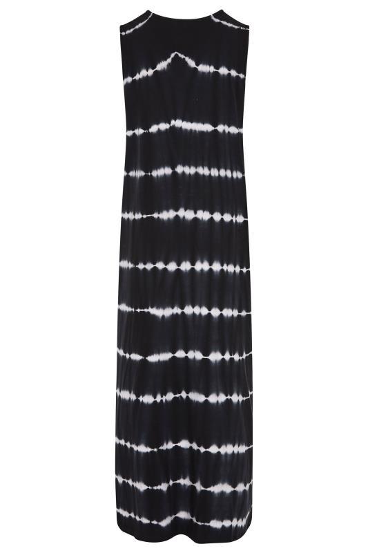 LTS Black Tie Dye Side Splits Maxi Dress_BK.jpg