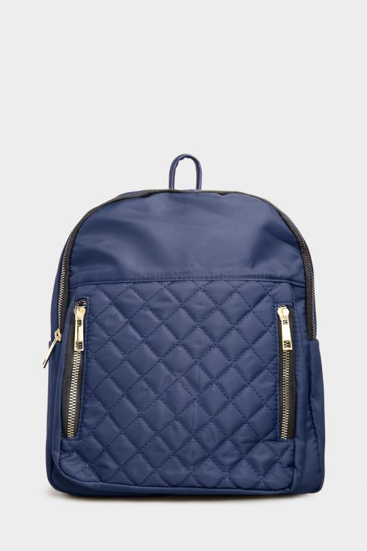 Yours Navy Quilted Backpack