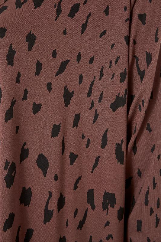 LIMITED COLLECTION Brown Animal Marking Longline Cardigan_S.jpg