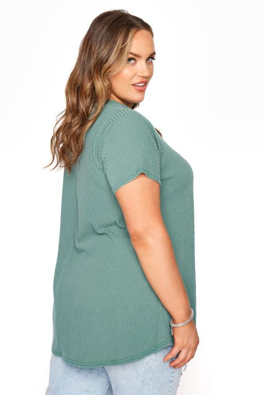 LIMITED COLLECTION Forest Green Rib Swing Top_C.jpg