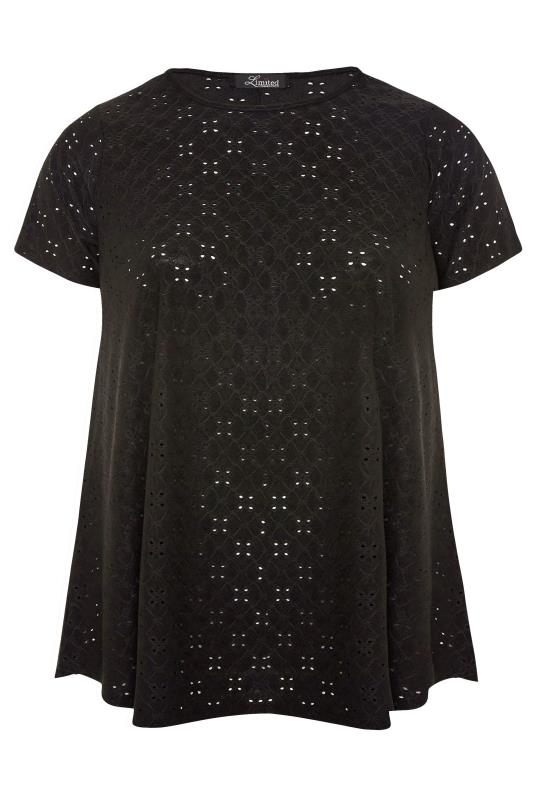 LIMITED COLLECTION Black Broderie Anglaise Swing Top_F1.jpg
