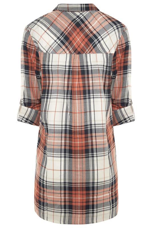 LTS Orange & Navy Check Boyfriend Shirt_BK.jpg