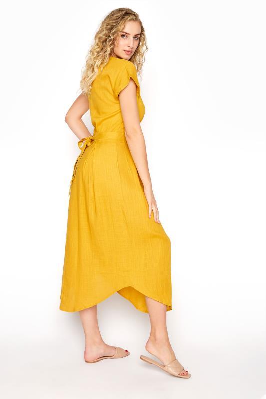 LTS Yellow Linen Blend Button Front Tulip Dress_C.jpg