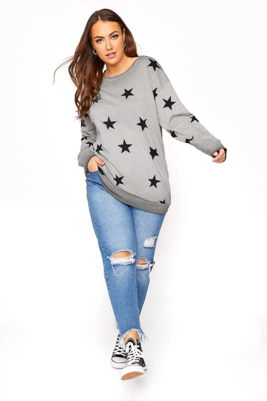 Grey Star Washed Sweatshirt