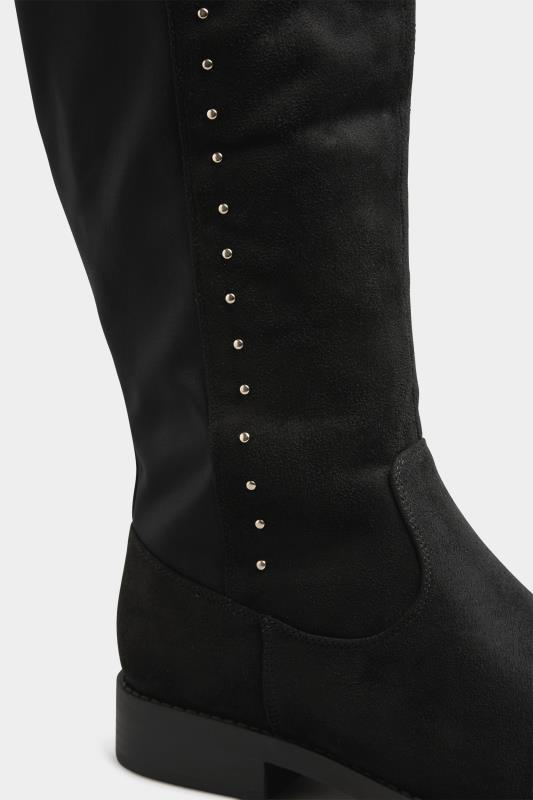 LIMITED COLLECTION Black Stud Over The Knee Boots In Extra Wide Fit_D.jpg