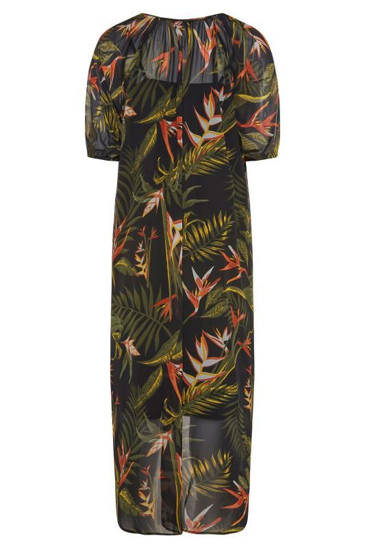 LIMITED COLLECTION Black Tropical Print Dress_BK.jpg