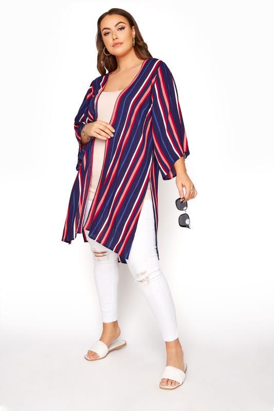 LIMITED COLLECTION Blue Striped Kimono