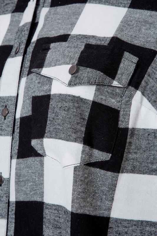 Black Check Cotton Boyfriend Maxi Shirt_S.jpg