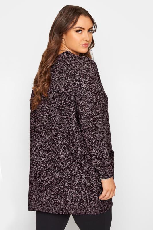 Purple Button Knitted Cardigan_C.jpg