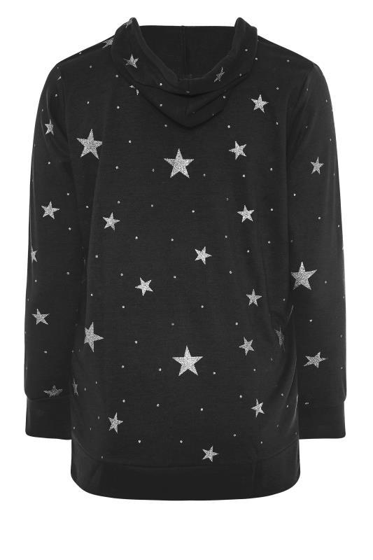 Black Star Print Zip Through Hoodie_BK.jpg