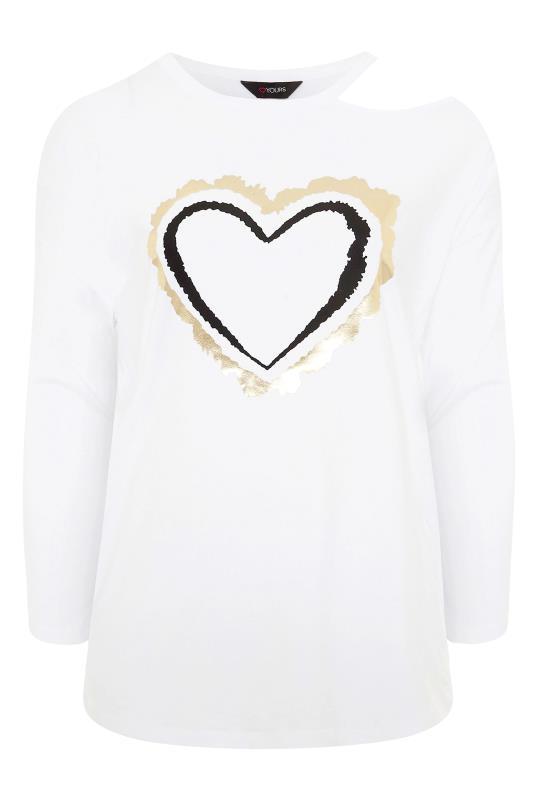 White Cold Shoulder Foil Heart Print Top_F.jpg