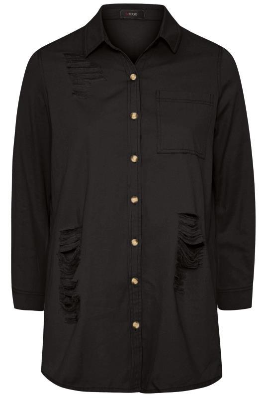 Black Distressed Denim Shirt_F.jpg