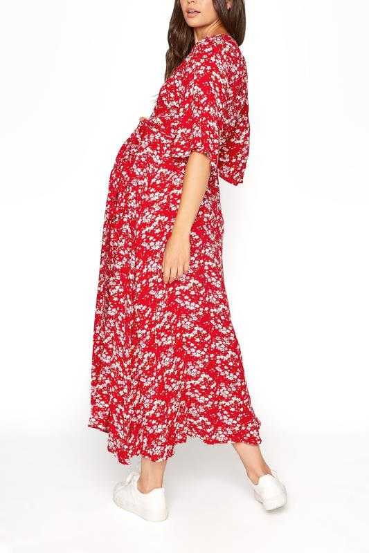 LTS Maternity Red & Pink Floral Wrap Dress_C.jpg