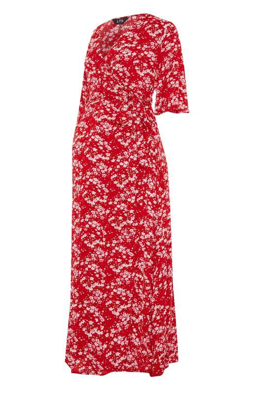 LTS Maternity Red & Pink Floral Wrap Dress_F.jpg