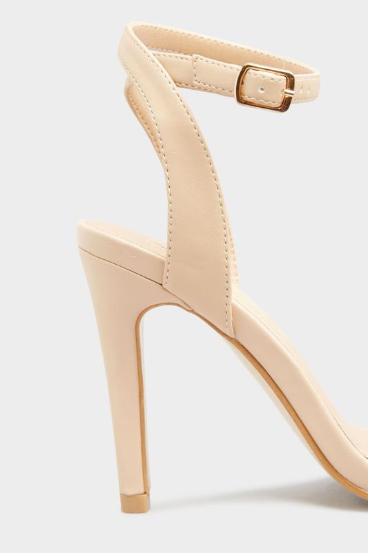 LIMITED COLLECTION Nude Strappy Two Part Heels In Extra Wide Fit_D.jpg
