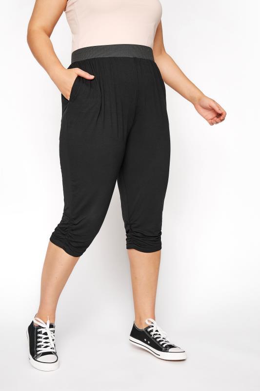 Black Basic Cropped Jersey Joggers_B.jpg