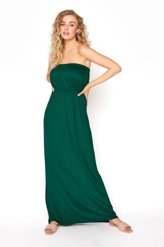 Tall  LTS Emerald Green Strapless Maxi Dress