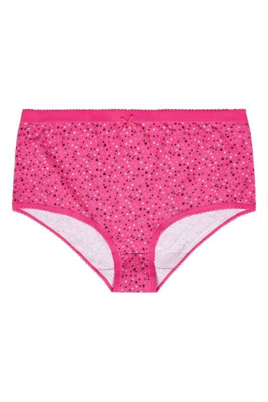 5 PACK Pink Multi Heart Print Full Briefs_F2.jpg
