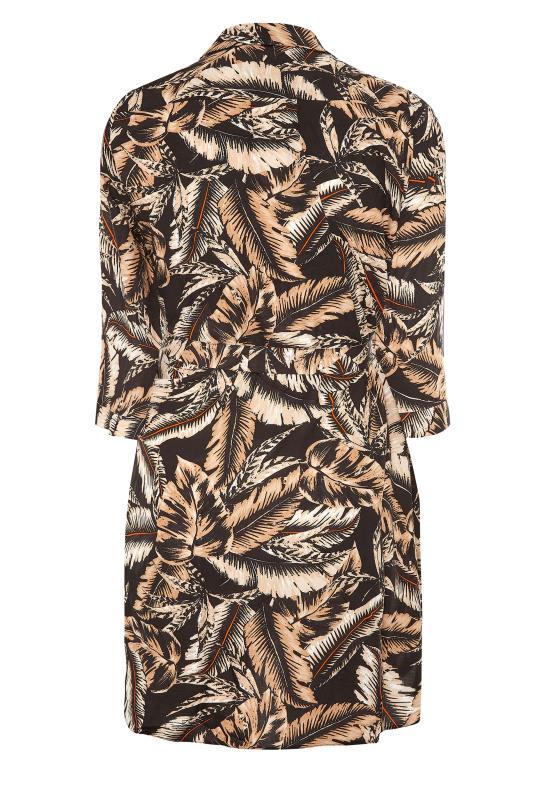 Black Leaf Print Shirt Dress_BK.jpg