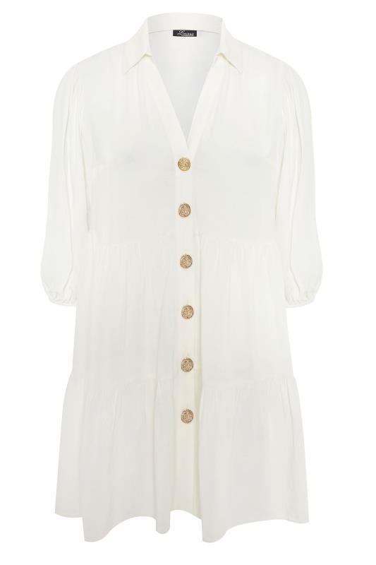 THE LIMITED EDIT White Tiered Smock Tunic Top_F.jpg