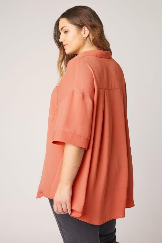 THE LIMITED EDIT Orange Pleated Front Top_C.jpg