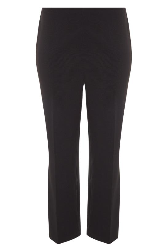 Bestseller Black Pull On Ribbed Bootcut Trousers
