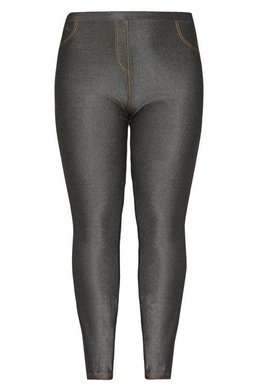 Size Up Leggings Negros Brillo Tallas Grandes 44 A 56 Yours Clothing