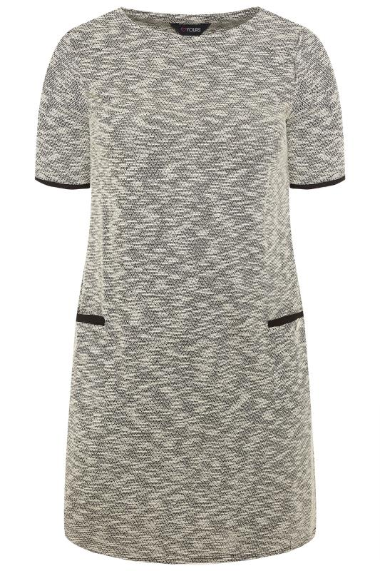 Light Grey Textured Marl Tunic