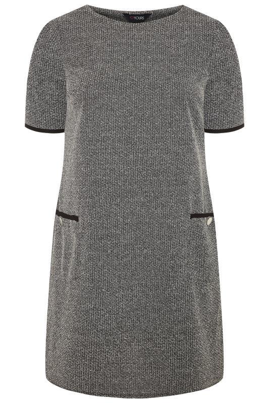 Grey Textured Marl Tunic