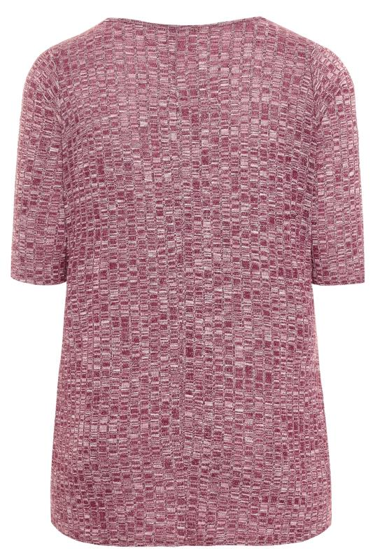 Berry Red Marl Textured Top