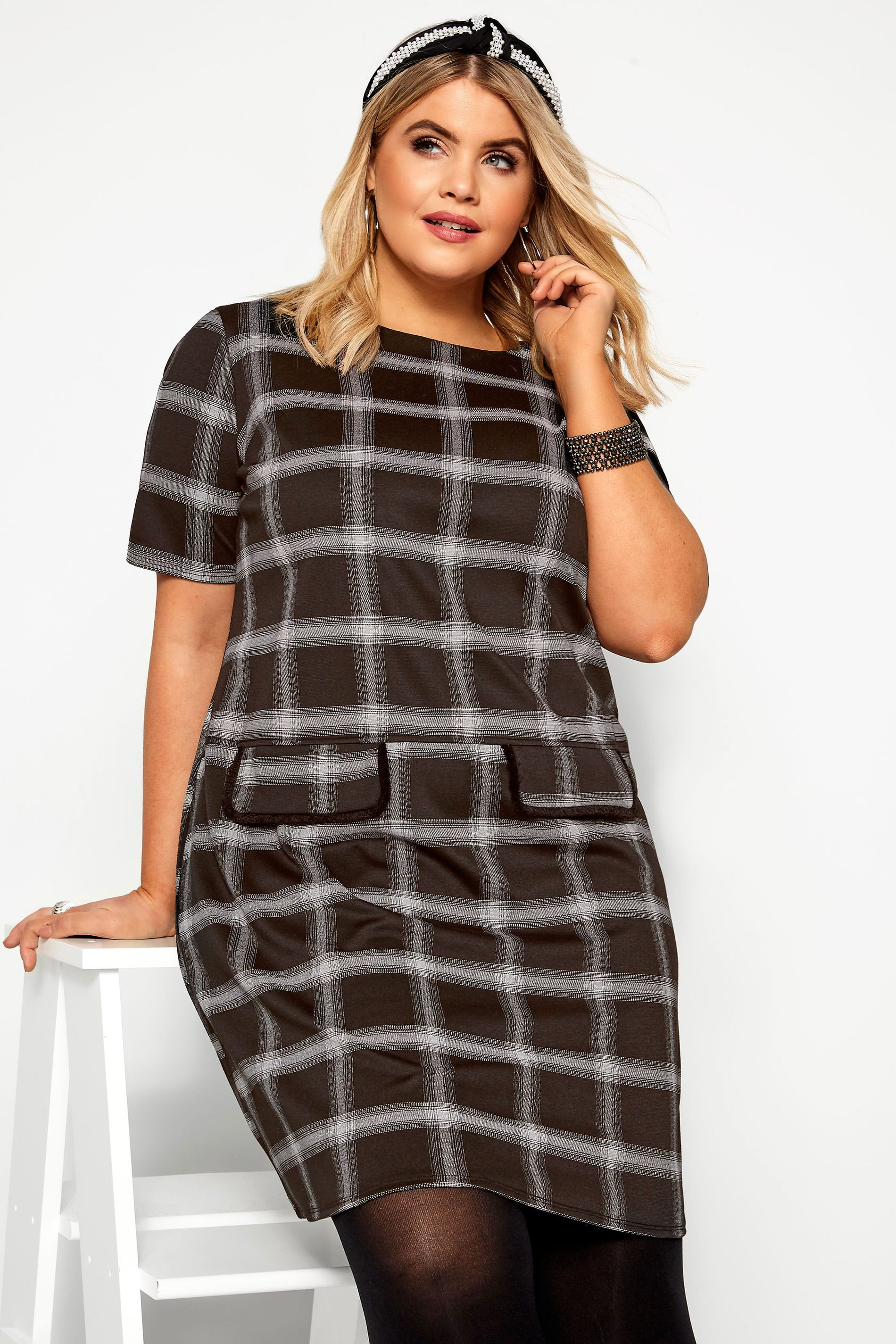Black & Grey Check Tunic