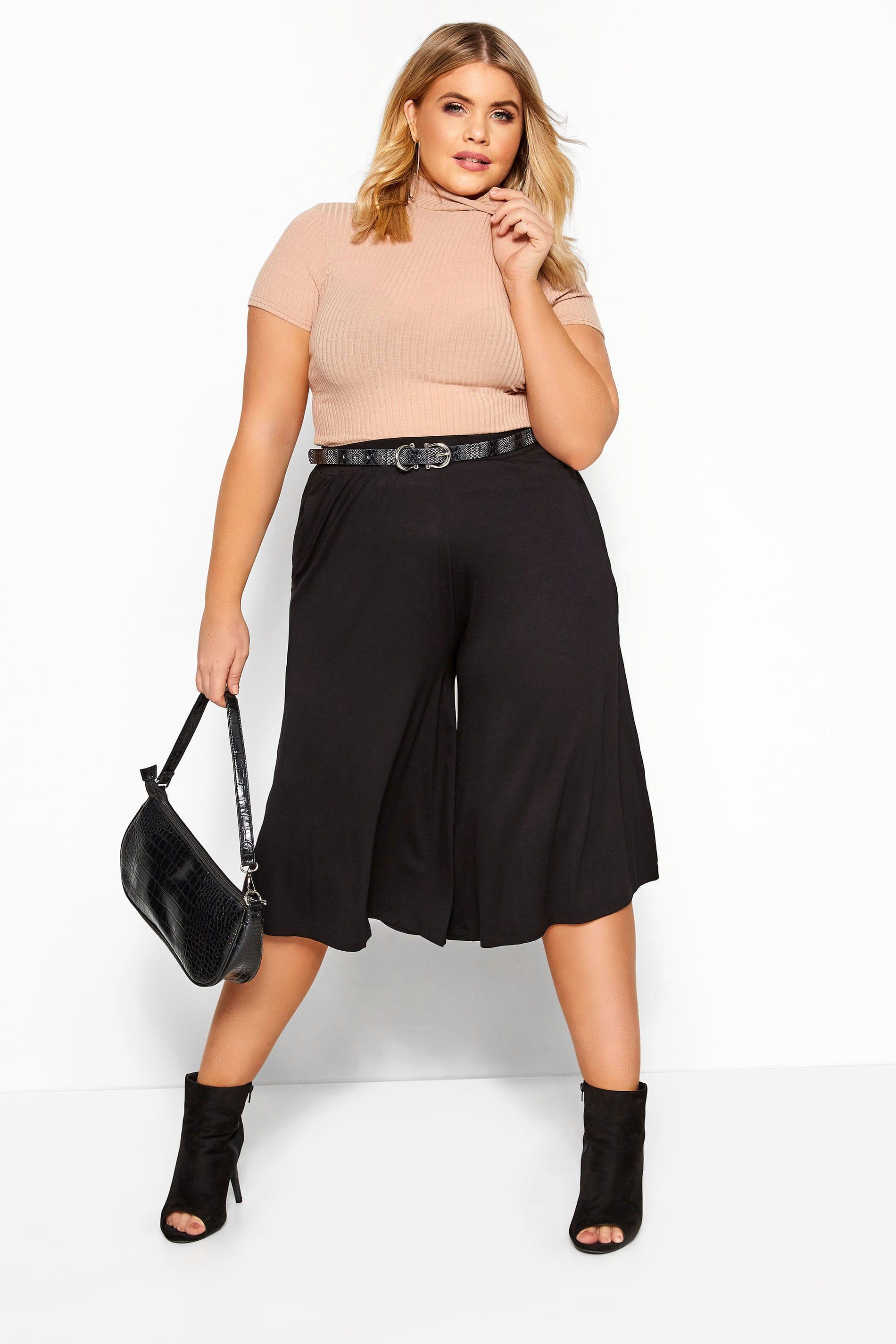 Black Jersey Culottes