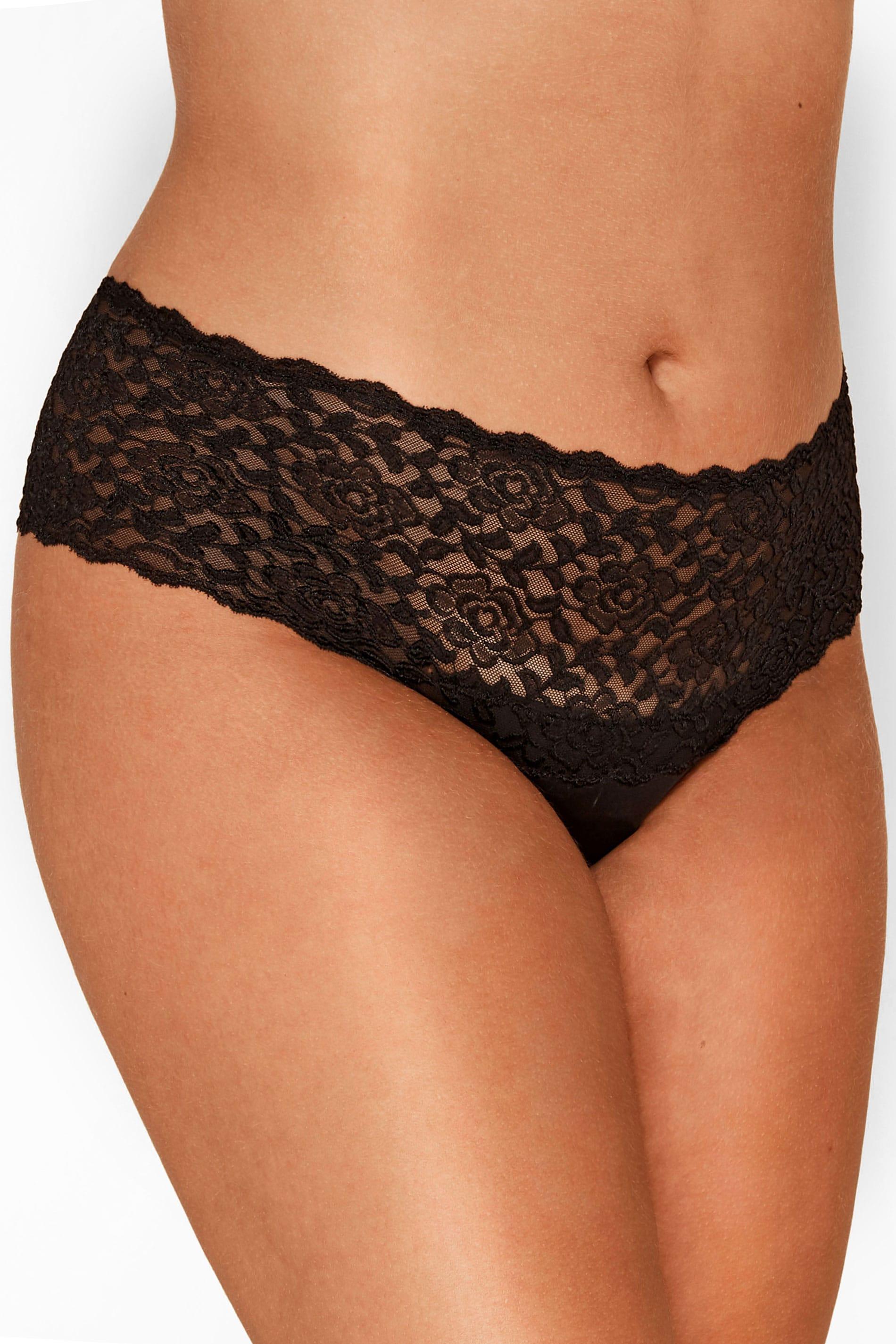 Black Lace Brazilian Briefs