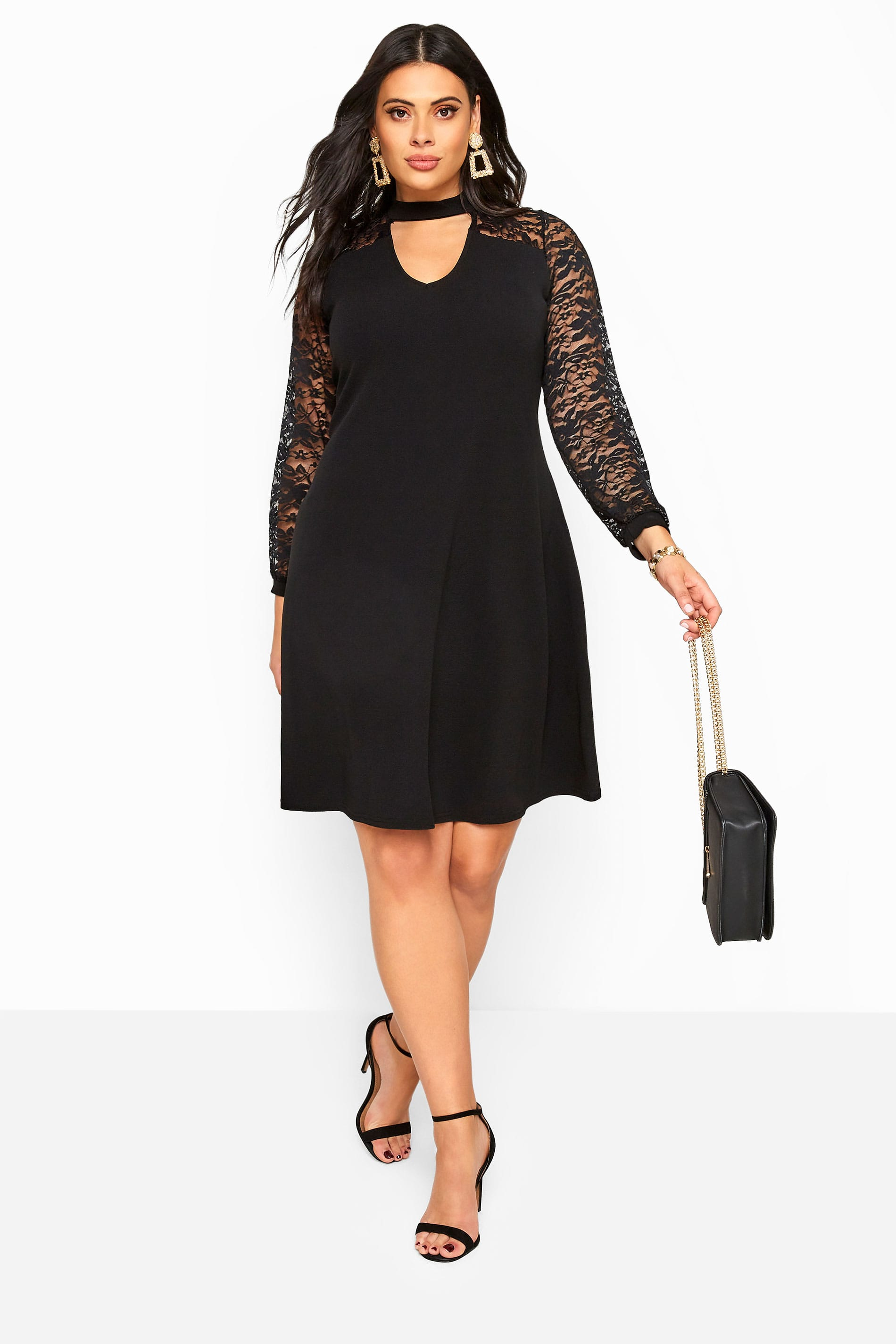 Black Lace Choker Dress