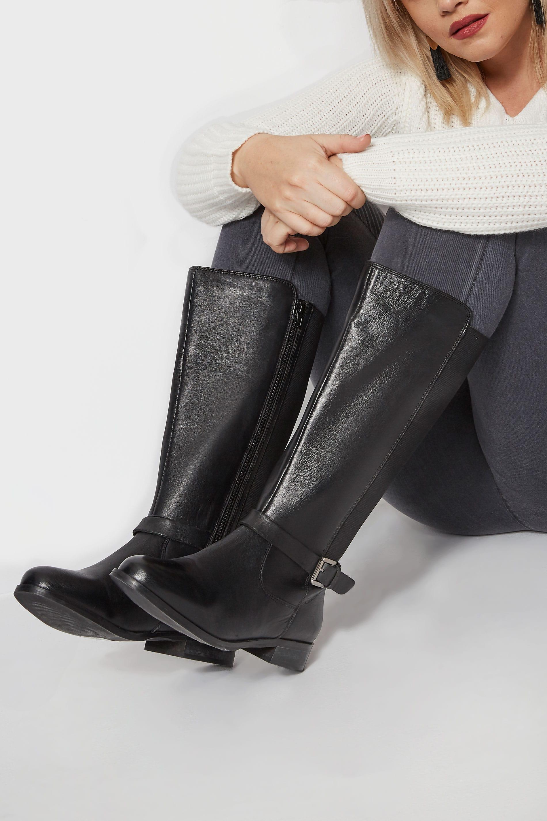 black leather bar shoe eee fit