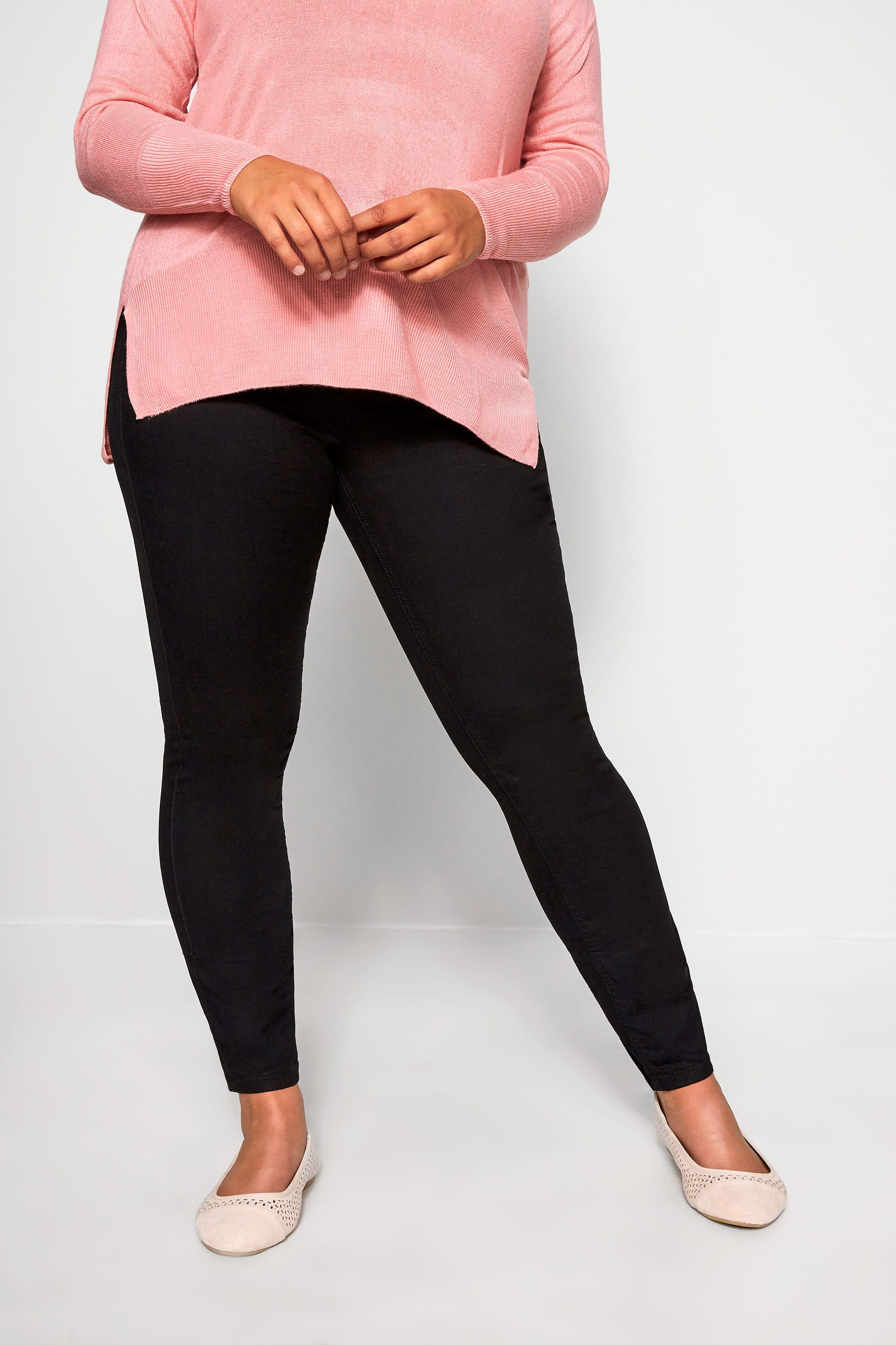Black 'Luxe Control' Slim Leg Jeans