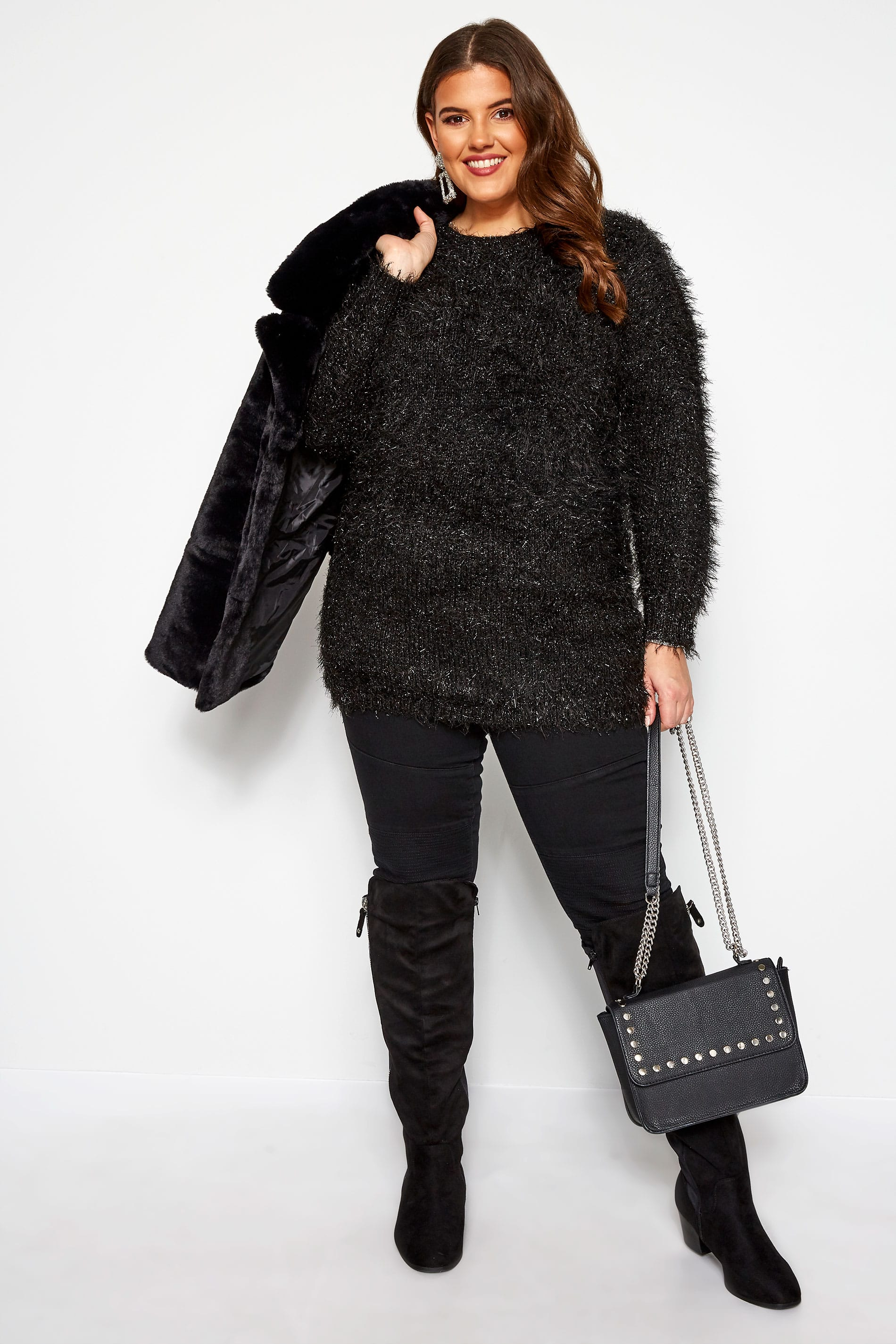 Zwarte trui met tinsel